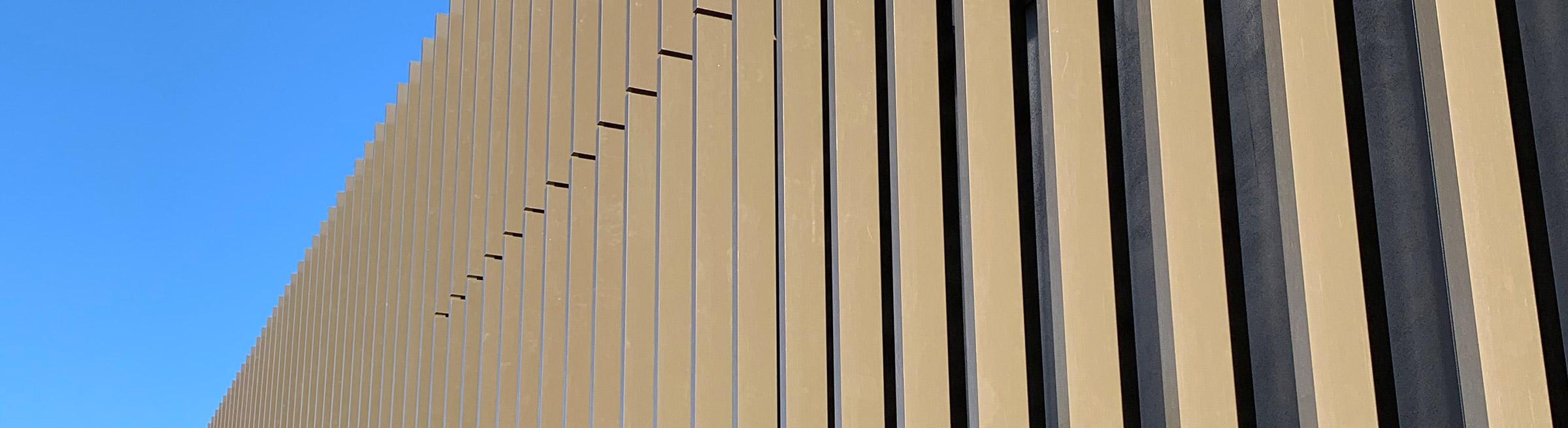 aluminium non combustible facade blades