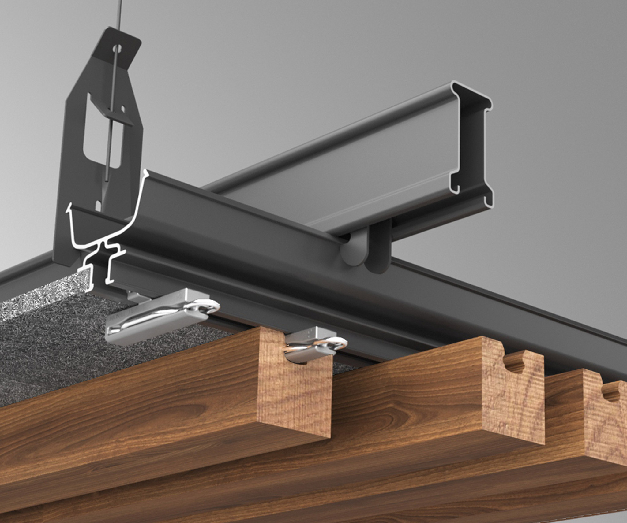 Suspended ceiling mounting track