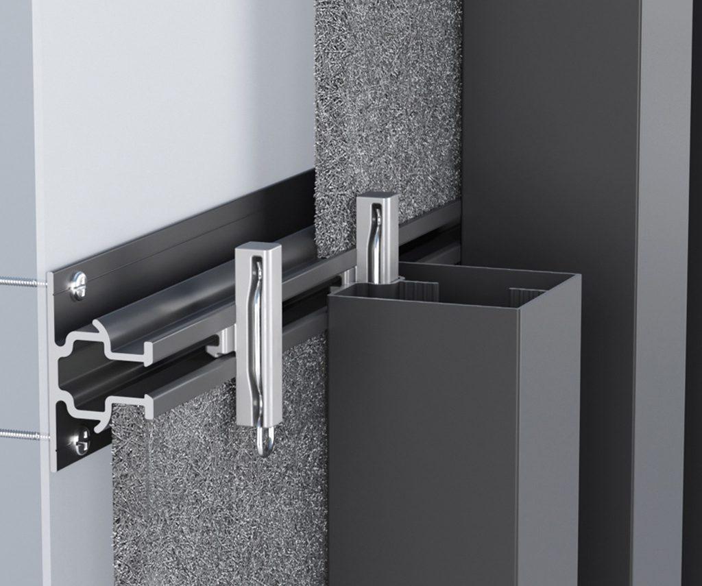 Standard mounting track - aluminium
