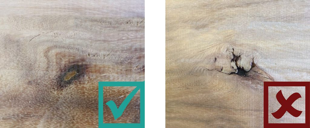 Sculptform Timber Grading - Knots