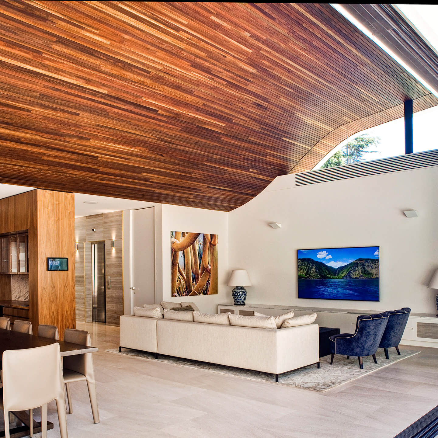 Sculptform Timber Feature ceiling