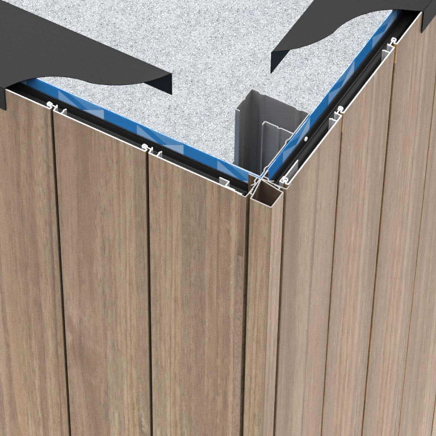 Click-on Cladding Corners
