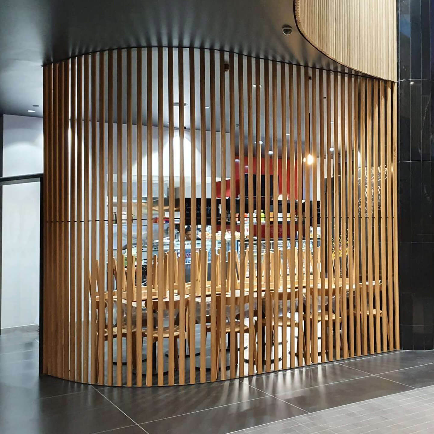 Sculptform Timber Free Standing Screen curve