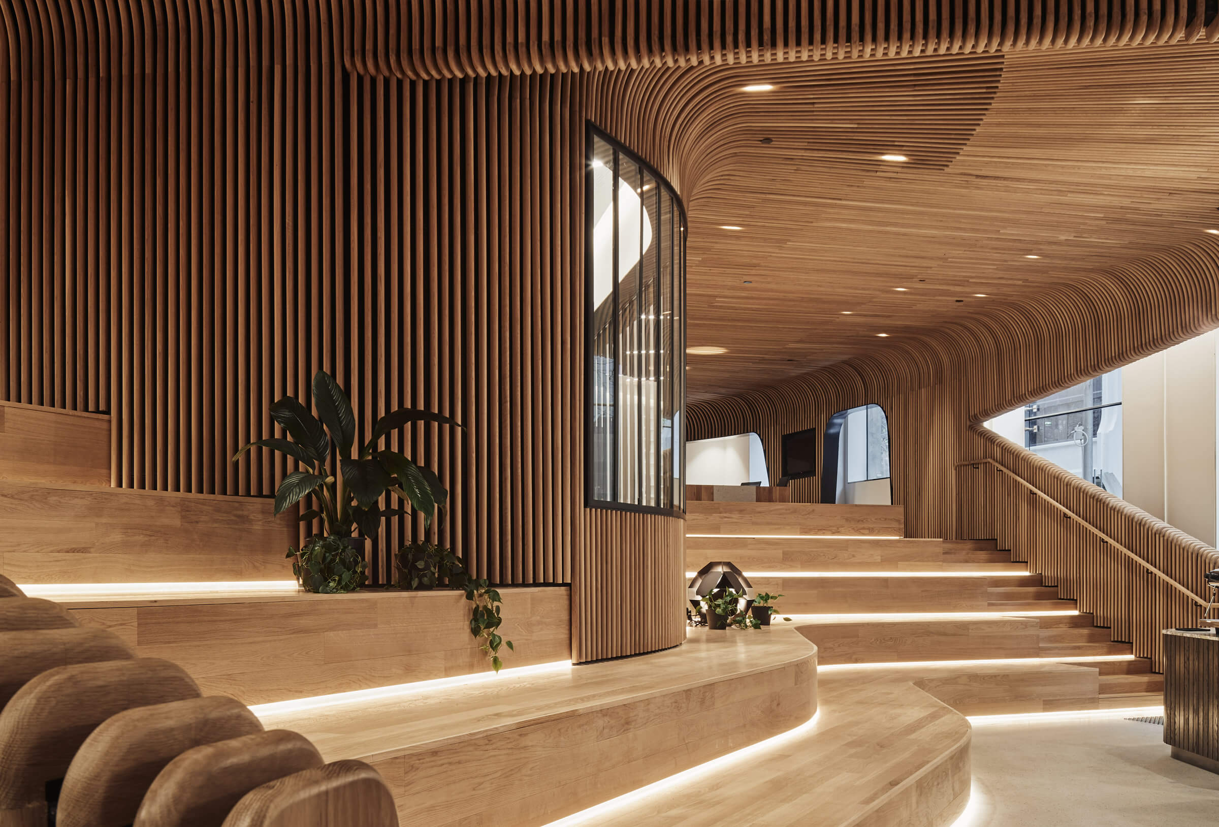 Sculptform Design Studio curved timber
