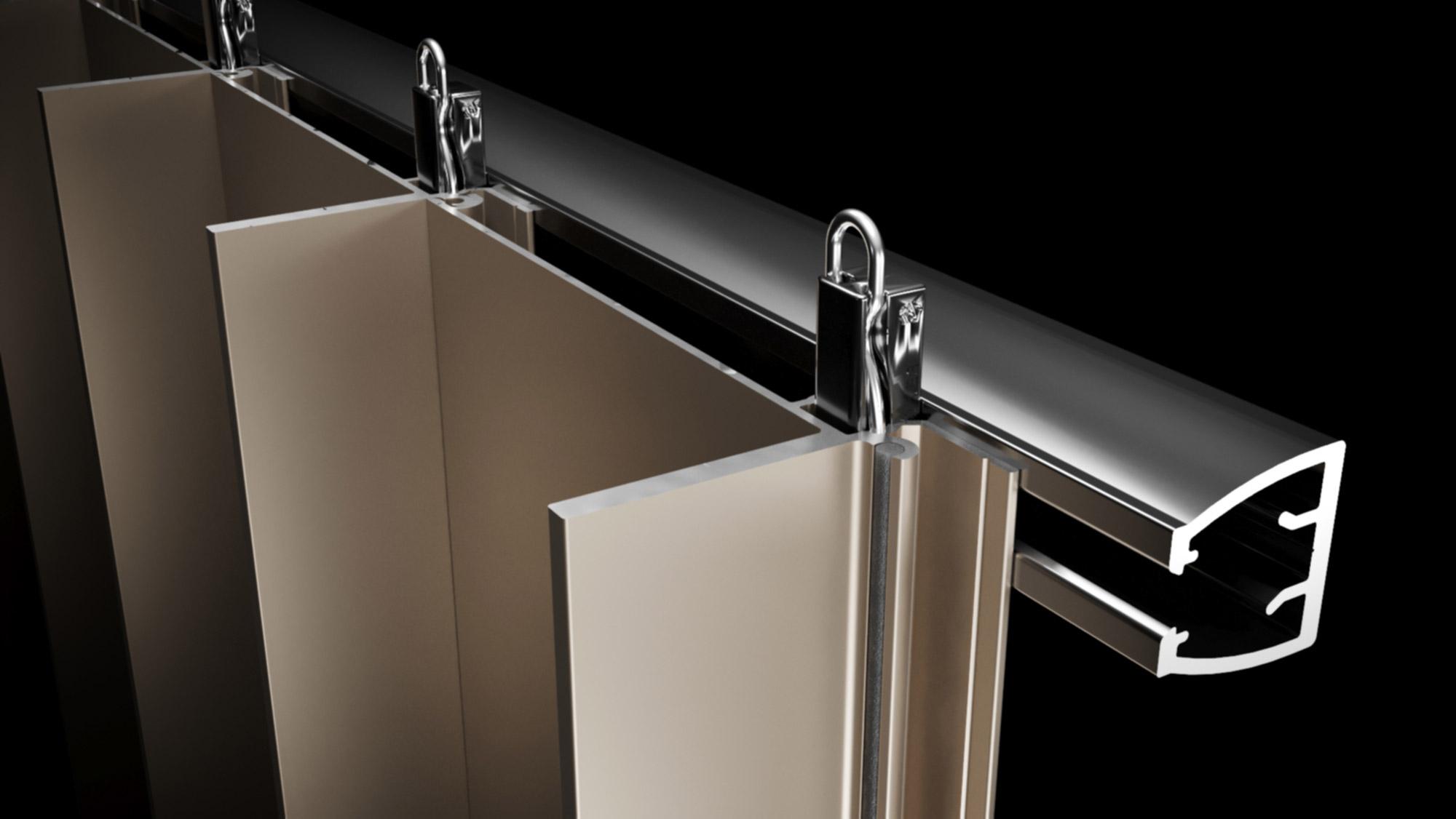 Sculptform Aluminium Click-on Cladding edge profile