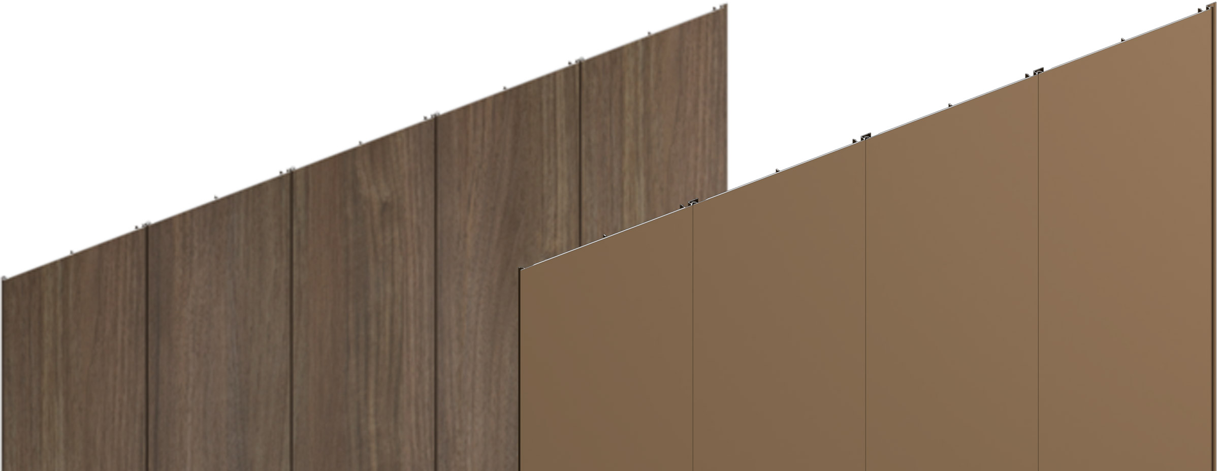 Sculptform Aluminium Click-on Cladding fine line profile