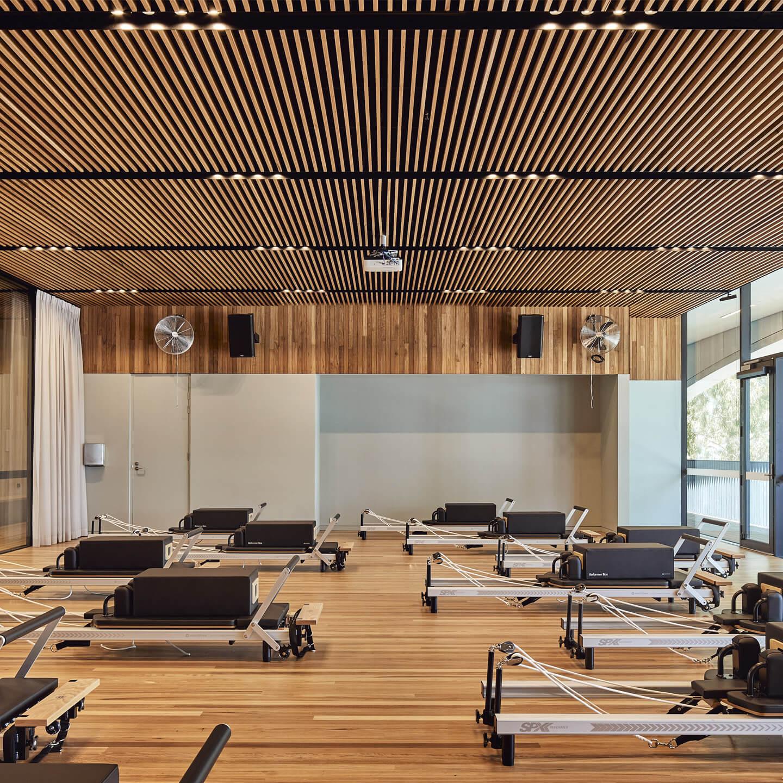 Gunyama Park yoga studio timber ceiling