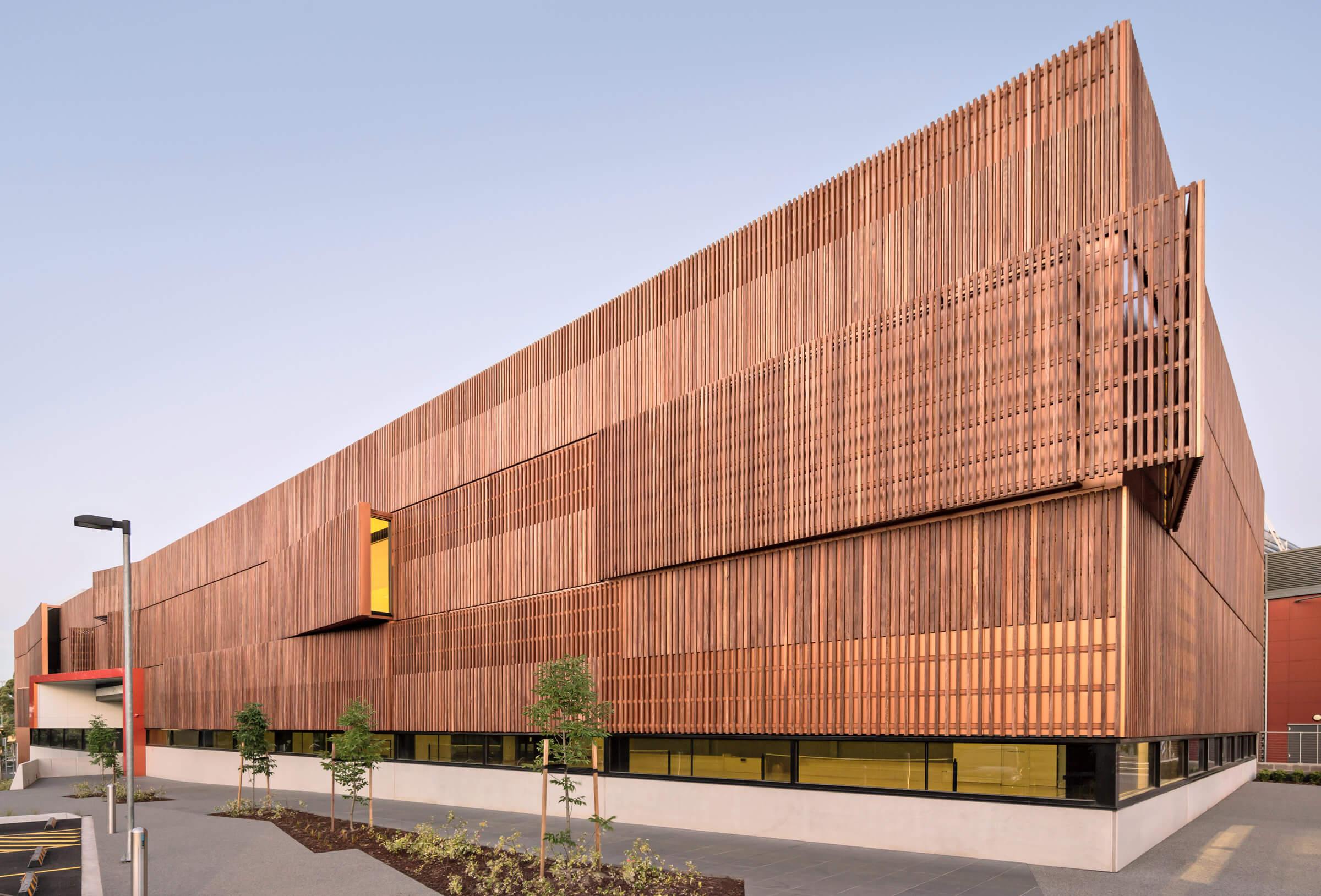 Boroondara Sports Centre timber facade