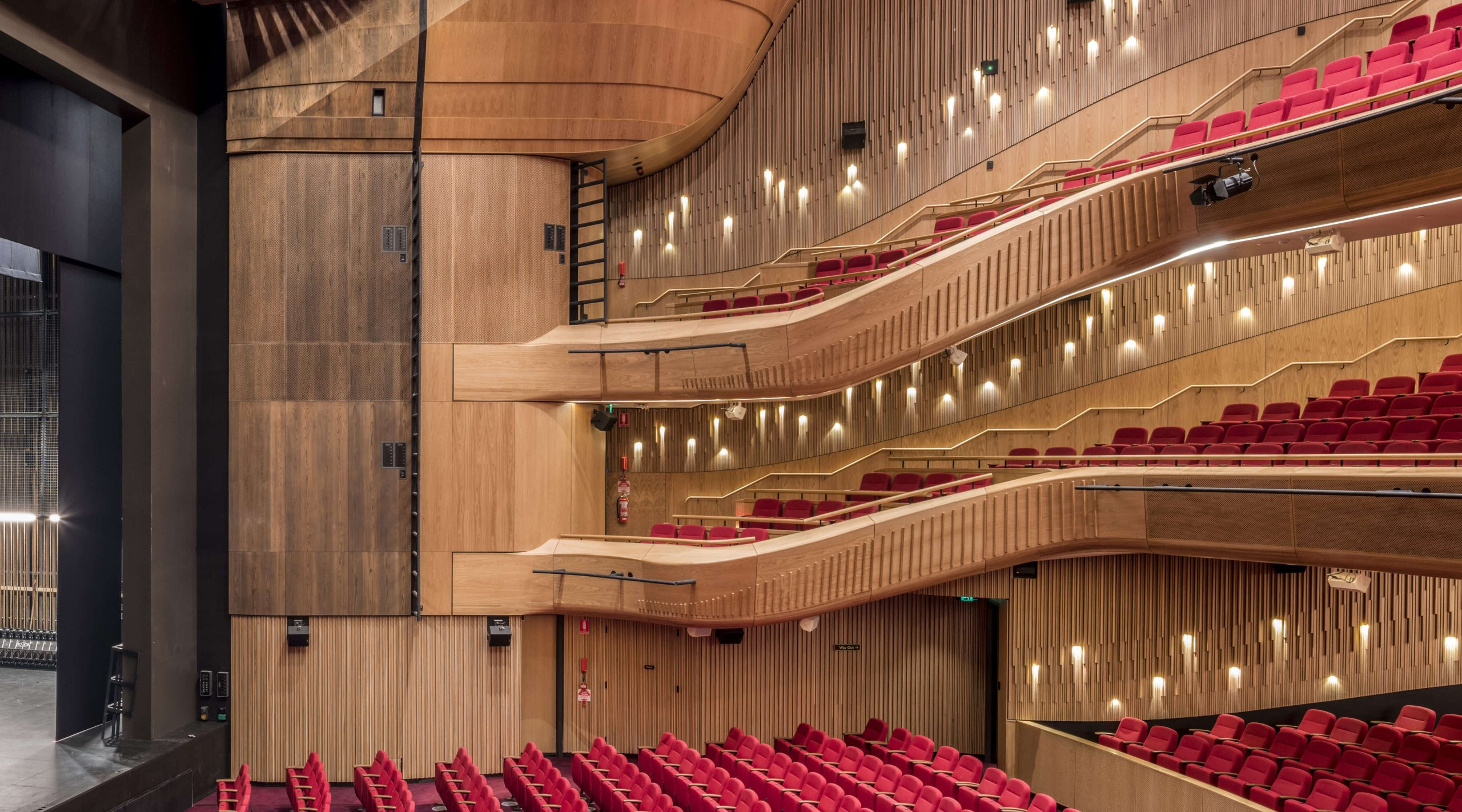 Timber battens at Her Majesty's theatre Adelaide